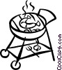 Vector Clip Art graphic  of a BBQ sausage