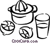 Juice maker with lemons Vector Clipart picture