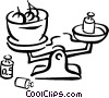 Vector Clipart graphic  of a Food scale