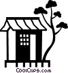 Vector Clip Art graphic  of a hut