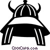 Asian battle helmet Vector Clipart illustration