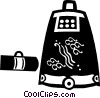 Vector Clip Art picture  of a Japanese luggage