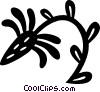 Vector Clip Art graphic  of a decorative floral elements