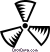 Vector Clip Art picture  of a Radioactive symbol