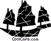 Chinese junk Vector Clip Art picture