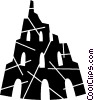 Vector Clipart image  of a castle