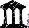 Vector Clipart picture  of a Bank symbol
