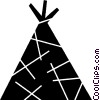 Vector Clip Art picture  of a Teepee