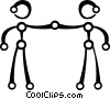 People shaking hands Vector Clipart illustration