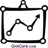 Chart with arrow Vector Clip Art picture