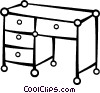 Vector Clipart image  of a Work desk