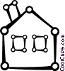 Vector Clipart picture  of a Family home