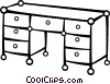 Vector Clipart graphic  of a Work desk