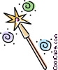 magic wand Vector Clipart image