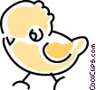 Vector Clip Art graphic  of a baby chick
