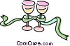 wine glasses Vector Clipart picture