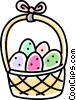 Vector Clipart picture  of a Easter basket