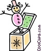 Vector Clipart image  of a jack-in-the-box
