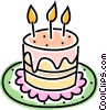 Vector Clipart graphic  of a birthday cake