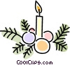 Christmas candles Vector Clip Art picture