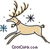 Vector Clipart image  of a reindeer