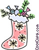Vector Clip Art image  of a Christmas stocking