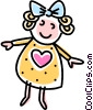 Vector Clip Art image  of a child's doll