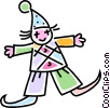 Vector Clipart picture  of a Funny clown