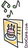 Vector Clip Art graphic  of a happy birthday card