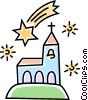 church Vector Clip Art graphic