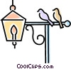 birds on a lamp post Vector Clipart picture