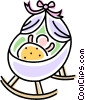 crib Vector Clipart illustration
