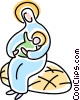 Vector Clipart image  of a nativity scene