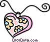 necklace Vector Clipart illustration