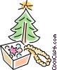 Vector Clipart illustration  of a Christmas tree