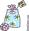 Vector Clip Art image  of a presents