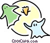 Vector Clip Art graphic  of a Halloween ghosts