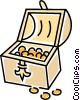 Vector Clip Art image  of a treasure chest