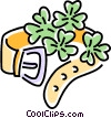 Vector Clipart picture  of a belt with shamrocks