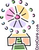 Vector Clipart picture  of a Ferris wheel