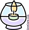 Vector Clipart image  of a candle