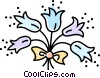 Vector Clip Art image  of a bouquet of flowers
