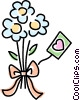 Vector Clip Art graphic  of a Bouquet of flowers