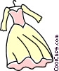 Vector Clip Art image  of a wedding dress