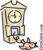 cuckoo clock Vector Clipart illustration