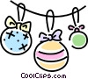 Christmas decorations Vector Clipart picture