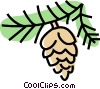 Vector Clipart picture  of a pinecone