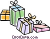 presents/gifts Vector Clipart graphic