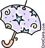 Vector Clipart image  of a umbrella