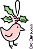 Vector Clip Art picture  of a Christmas bird